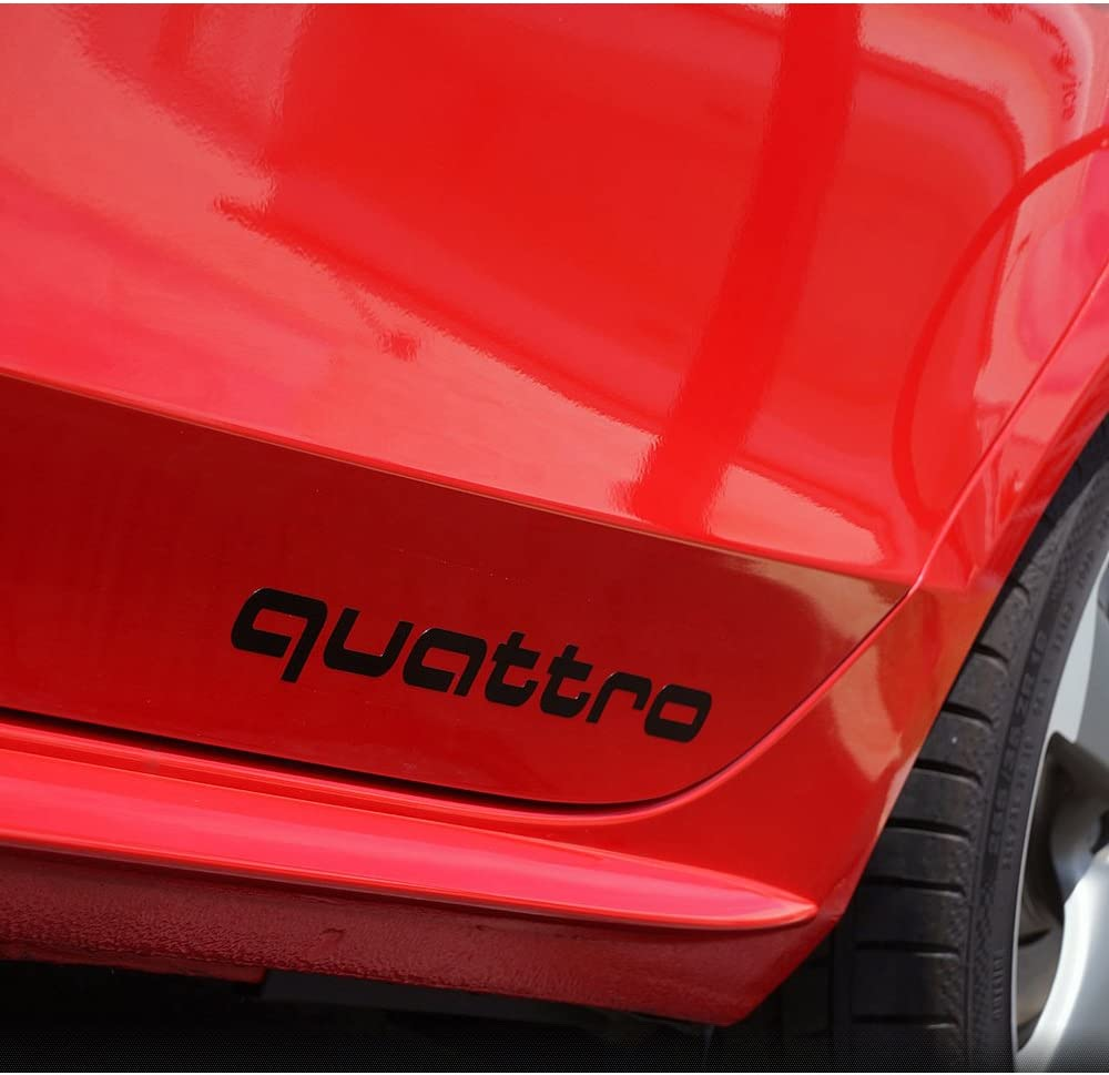 Audi 4g0064317y9b Original Quattro Dekorfolie Quattro Schriftzug Schwarz Auto