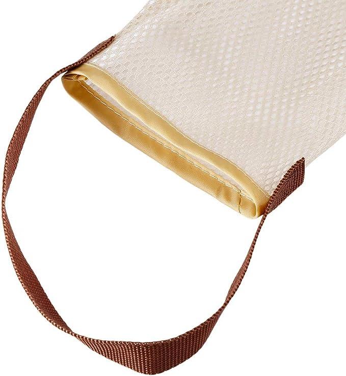 Bolsas de almacenamiento de patatas y cebollas juego de 2 bolsas de almacenamiento para verduras para el hogar almacenamiento de alimentos con cord/ón bolsa de verduras tama/ño grande reutilizable