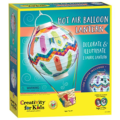 Creativity for Kids Hot Air Balloon Lantern Craft Kit - Makes 1 Light-Up Lantern Paper Lanterns Craft