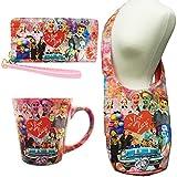 (Set) I Love Lucy Colorful Collage Wallet & CrossBody Hobo Purse & Latte Mug