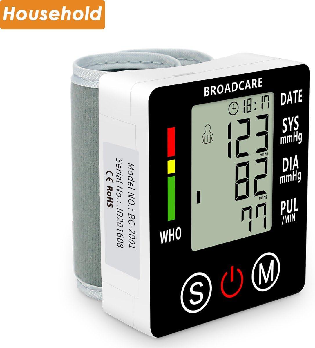 Broadcare - Medidor de presión digital, recargable, portátil, de ...