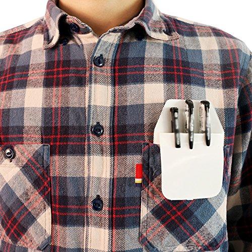 TKOnline 12 Pcs White Classical Heavy Duty Pocket Protectors for Pen Leaks School Hospital Office Supplies by TKOnline (Image #4)