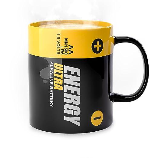 Balvi - Energy mug de cerámica. Apto para microondas y ...