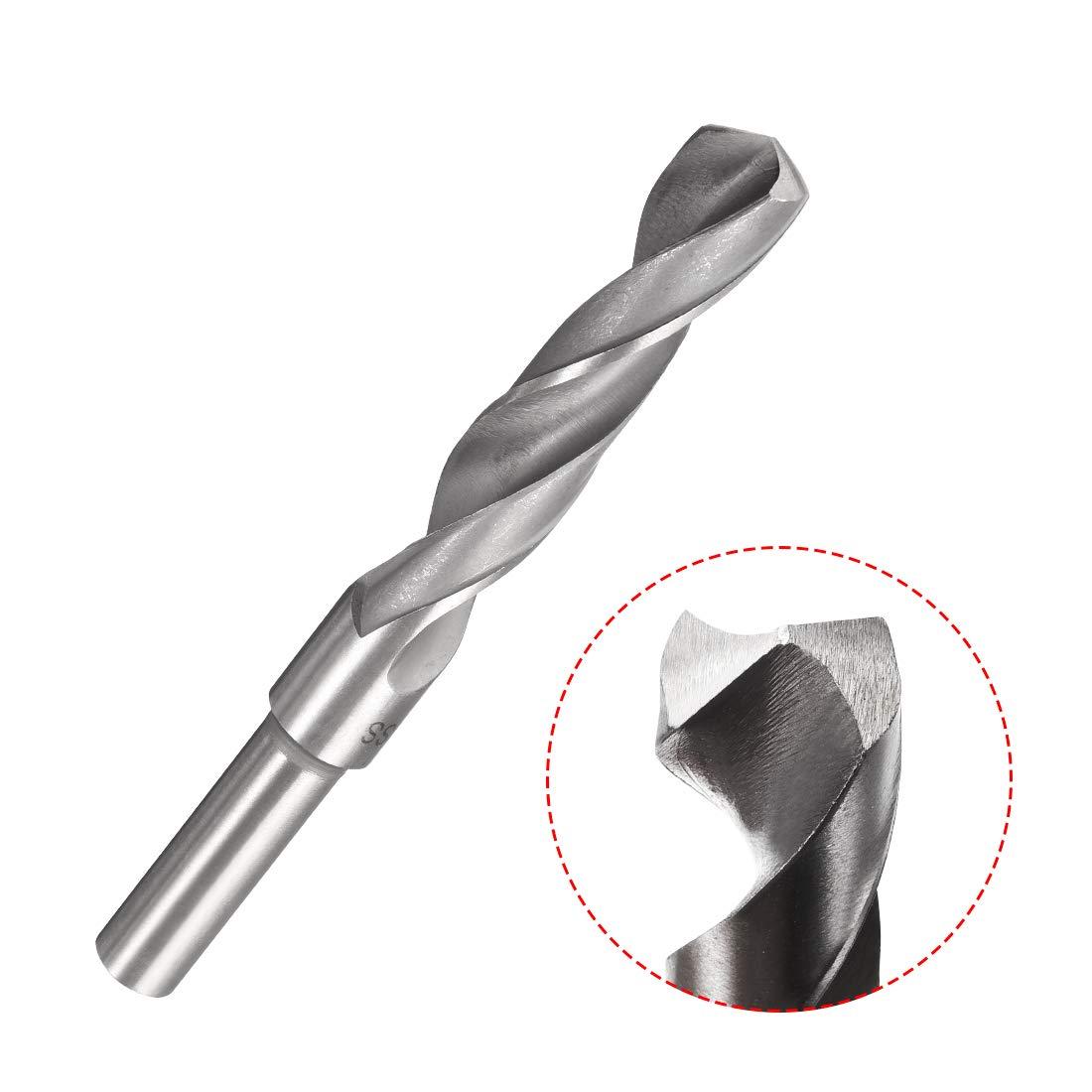 uxcell 1//2 Straight Shank 16mm Drill Bit HSS 4241 Silver