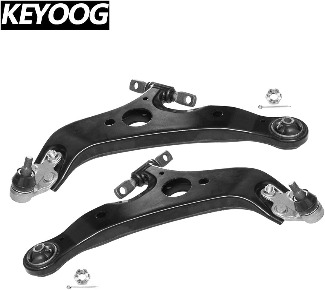 KEYOOG 2Pcs Right Left Front Lower Control Arm and Ball Joint Assembly For 2004 2005 2006 2007 2008 2009 2010 Toyota Sienna K620713 K620714 Passenger /& Driver Side Suspension