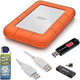 LaCie 9000298 Rugged Mini Disk USB 3.0 2TB External Hard Drive + Accessory Kit