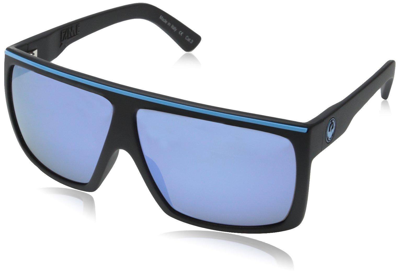 Dragon Alliance Unisex-Adult's Fame Sunglasses (Matte Blue/Sky Blue Ion Lens, One Size)
