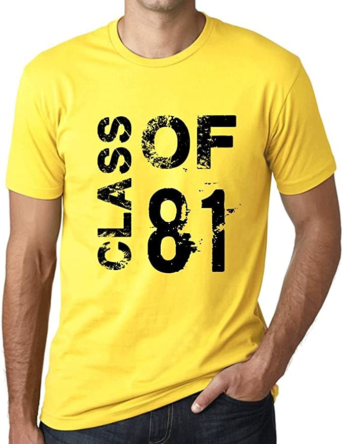 One in the City Class of 81 Grunge Hombre Camiseta Amarillo ...