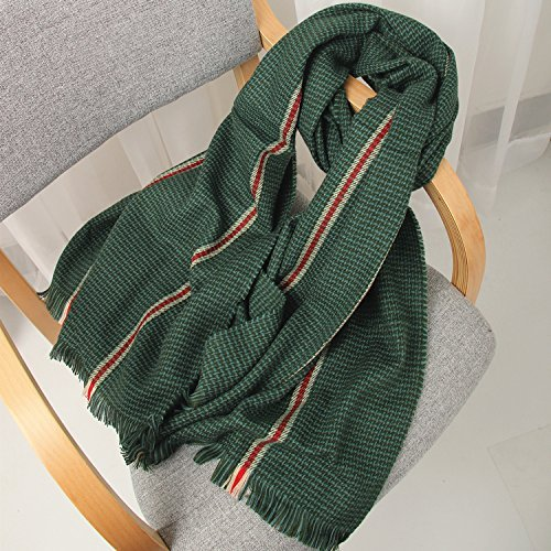 Blackish green SED ScarfWoman Winter Scarf Thick Warm Knit Scarf Long Scarf Shawl AllMatch