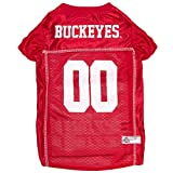 Pets First Collegiate Ohio State Buckeyes Dog Mesh Jersey, Large