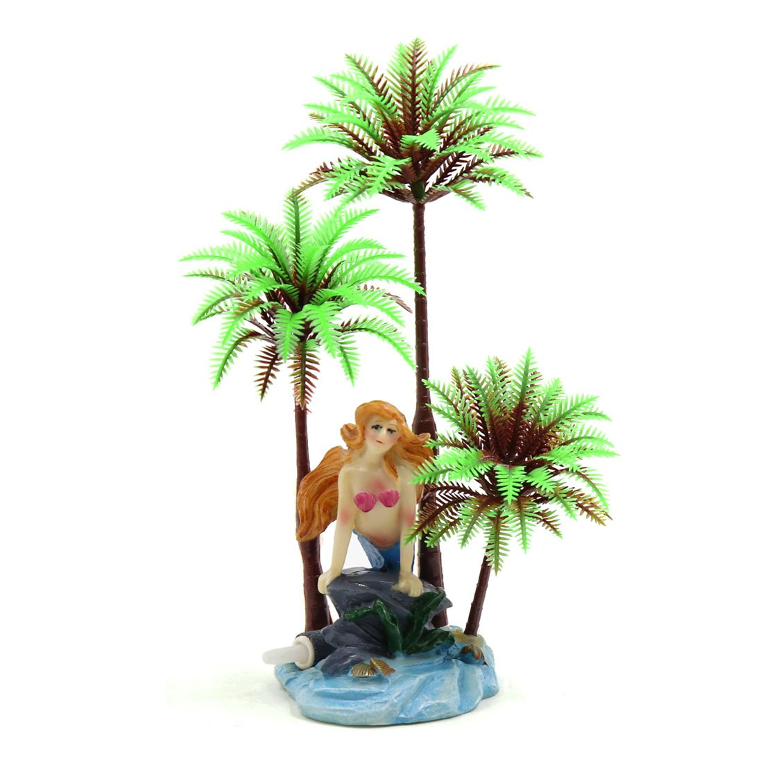 Type 2 uxcell® Plastic Coconut Tree Aquarium Terrarium Landscape Decorative Plant for Reptiles and Amphibians