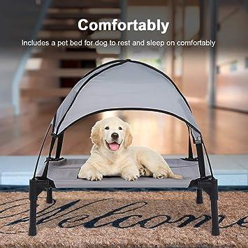Cama para Mascotas elevada para Perros Transpirable Cama para Uso Interior y Exterior, 60 ×