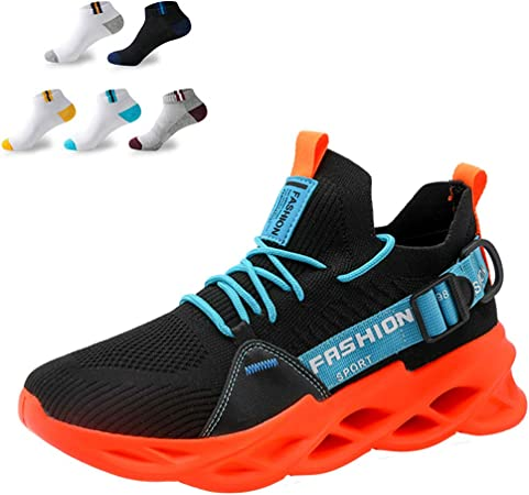 Zapatillas De Running Ligeras Para Hombre Zapatillas De Deporte Zapatillas De Deporte De Malla De Punto Casual Zapatillas De Deporte Transpirables De Alta Elasticidad Para Caminar,Naranja,45EU: Amazon.es: Hogar