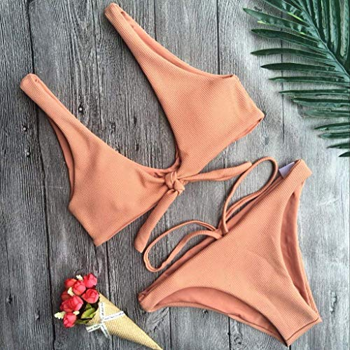 In Bows coloré Bikini Taille Oudan L Rose 5OwqxCCdR