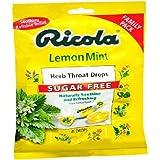Ricola Herb Throat Drops, Sugar Free, Lemon Mint 45 ea(PACK OF 2)