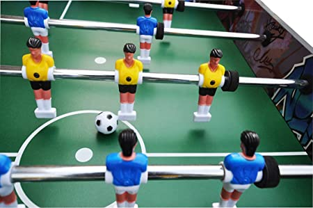YUHT Futbolín Infantil,Mesa de futbolín,Juegos de Mesa de futbolín Mesa de fútbol de pie de 4 pies, 8 Filas de Juegos de Mesa de futbolín para niños/Adultos: Amazon.es: Deportes y aire libre