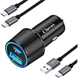 Cluvox Rapid Type C Car Charger Compatible Google Pixel 4a/4/3a/3/2/XL, Samsung Galaxy S20 Plus/Ultra/Note 20/Ultra/10/Plus/S