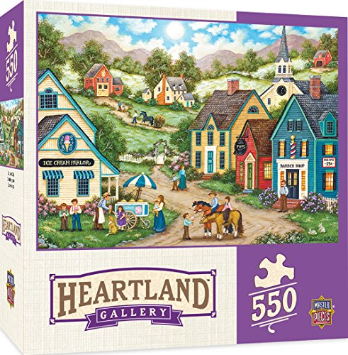 Price comparison product image MasterPieces Heartland Double Dip - Kids with Ice Cream 550 Piece Jigsaw Puzzle by Bonnie White