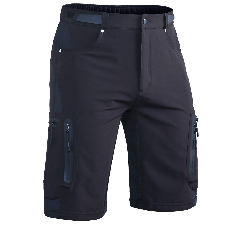 Hiauspor Men-Hiking-Climbing-Cargo-Shorts-Short (Black01, 2XL(Waist:34.5''-36'', Hip:40.5''-42.5'')) by Hiauspor