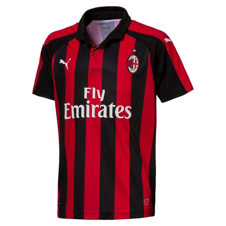 PUMA AC Milan Home Replica SS with Sponsor Logo Jersey, Niños ...