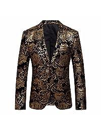 Men's Luxury Vintage Blazer Suit Formal Classic Business Outer Coat Jacket