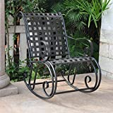International Caravan Iron Outdoor Patio Rocker For Sale