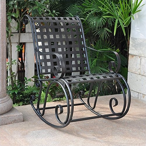 - Iron Outdoor Patio Rocker