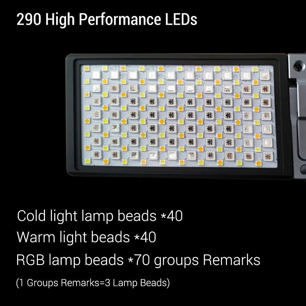 sistema di supporto regolabile a 360/° per Vlog Live Studio colore con batteria integrata Luce tascabile LED RGB dimmerabile 2500 K-8500 K Boling BL-P1