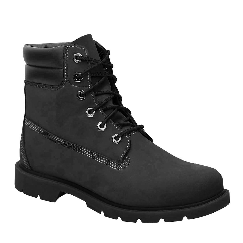 f8f0cd95096c Ermonn Womens Combat Work Boots Lace Up Padded Collar Low Heel Winter Ankle  Booties Black
