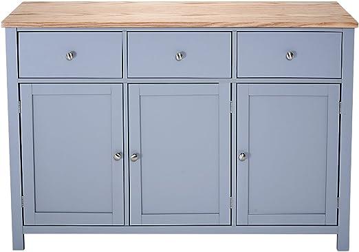 Ruication - Aparador de madera de roble con 3 puertas y 3 cajones de roble claro, gran cajón, mueble moderno para salón, comedor, cocina, baño, dormitorio, pasillo: Amazon.es: Hogar