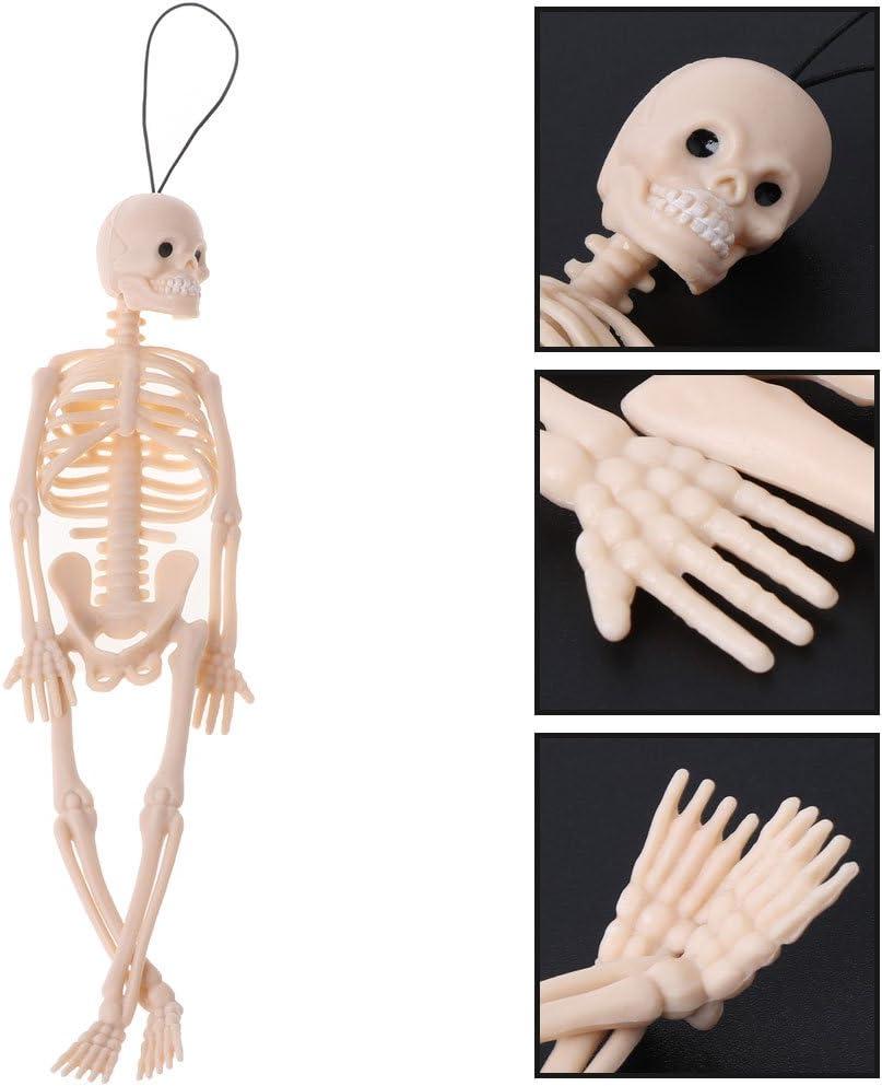 Ayuda de capacitaci/ón educativa m/édica SimpleLife Modelo de Esqueleto Humano Mini Figura de Cuerpo Entero Juguete Colgador de tel/éfono Halloween