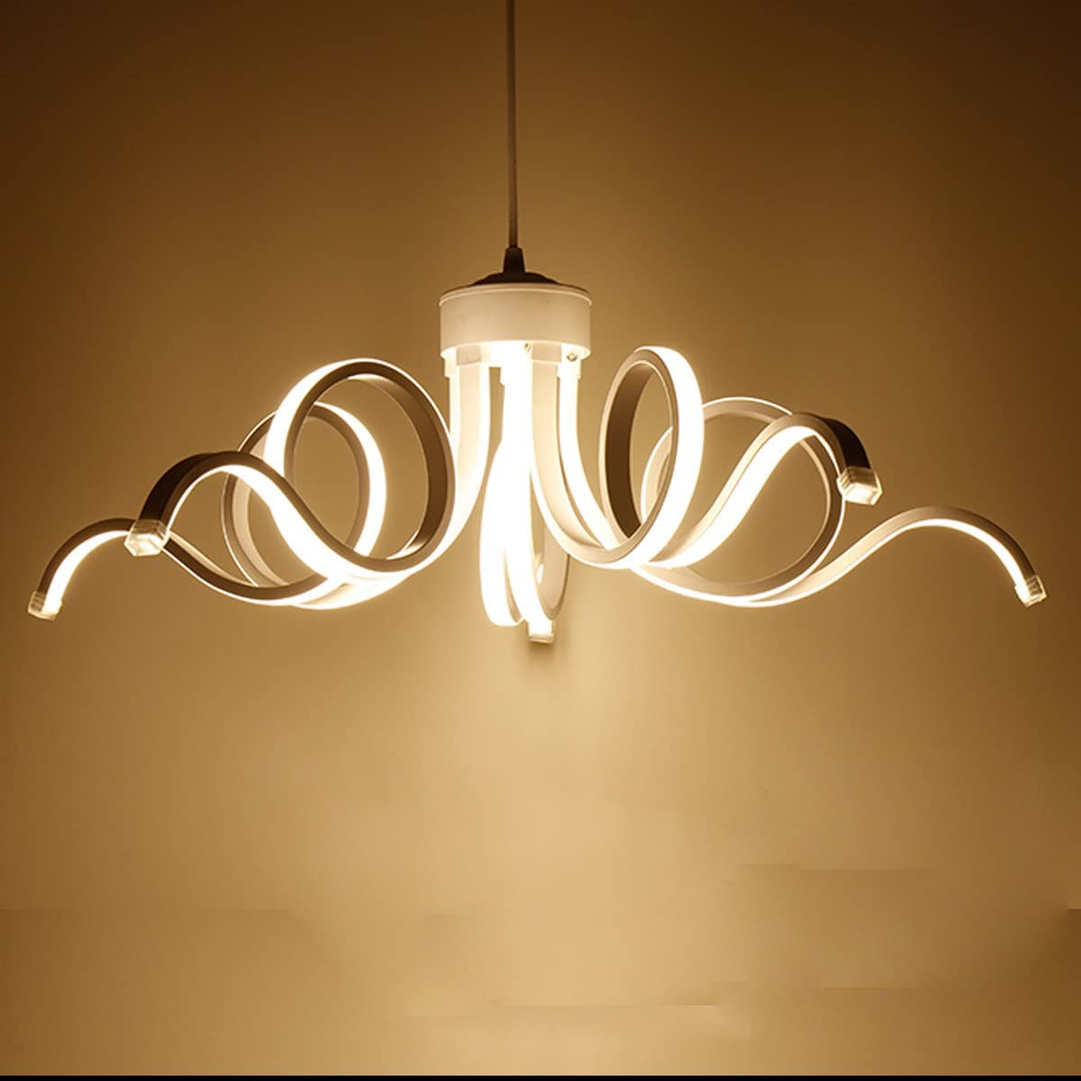 LightInTheBox Modern Chandelier Pendent Light LED Lamp Curl Style for Hallway,Bedroom,Kitchen,Kids Room Warm White