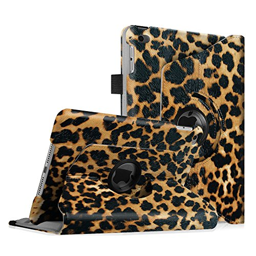 Fintie iPad mini 4 Case - 360 Degree Rotating Stand Case with Smart Cover Auto Sleep / Wake Feature for Apple iPad mini 4 , Leopard Brown