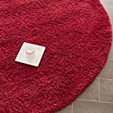 Safavieh California Shag Collection SG151-4040 Red Round Area Rug (4' Diameter)