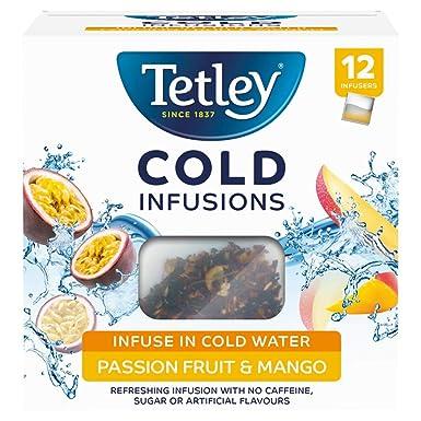 Tetley Cold Infusions Passionfruit y Mango 12 Bolsas: Amazon ...