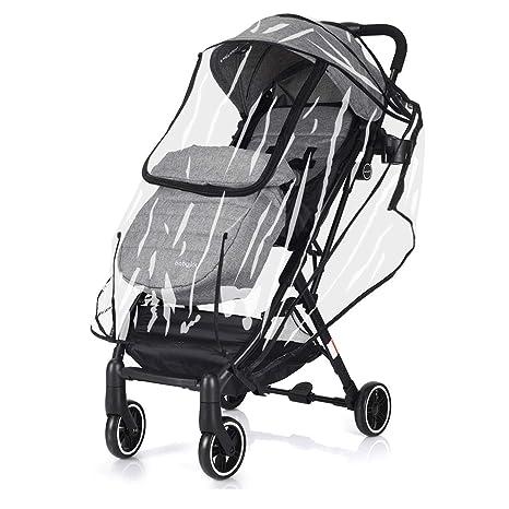 COSTWAY Silla de Paseo Ligera Cochecito de Bebé Plegable para 0-3 años Carga hasta 15KG con Cubierta de Lluvia (gris claro)