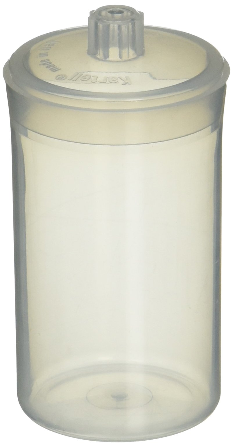 Kartell 1211Z85PK 261154-0005 Polypropylene Autoclavable Weighing Bottle with Polypropylene Lid, 40 mm OD x 69 mm Height, 60 ml Capacity, 14 g tare Weight (Pack of 10)