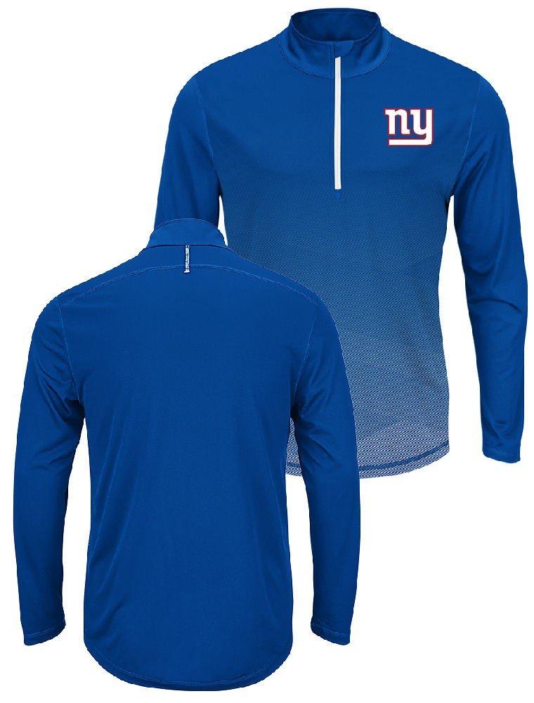 新しいYork Giants Intimidating Half Zipプルオーバー合成Windshirt XL  B01LXR7DX1