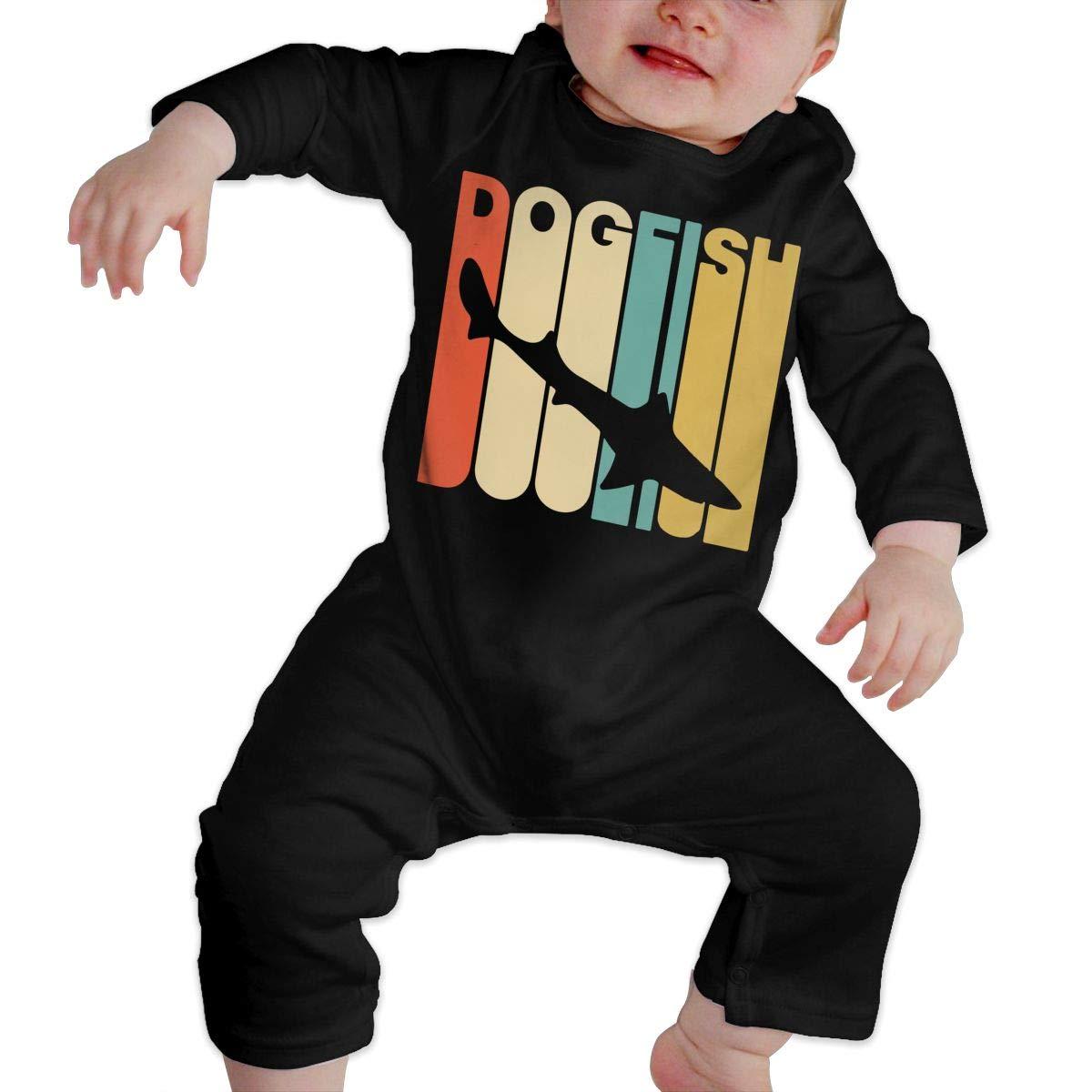 Vintage Style Dogfish Newborn Baby Long Sleeve Romper Jumpsuit Infant Romper Jumpsuit