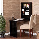 Space Saving Desk Folds and Hides Away. It Opens Into a Compact Computer Writing Workstation. Attractive Guaranteed Functionality Describes This Convertible Fold Out Desk. Unfolded, the Top Half Is a Convenient Storage Area. The Bottom Is for Writing. Review