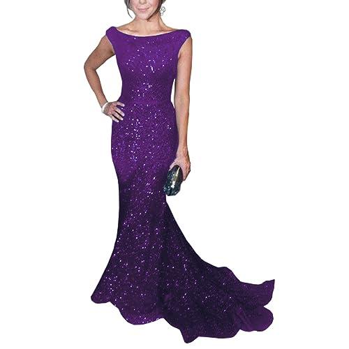 Purple Sequined Dresses: Amazon.com