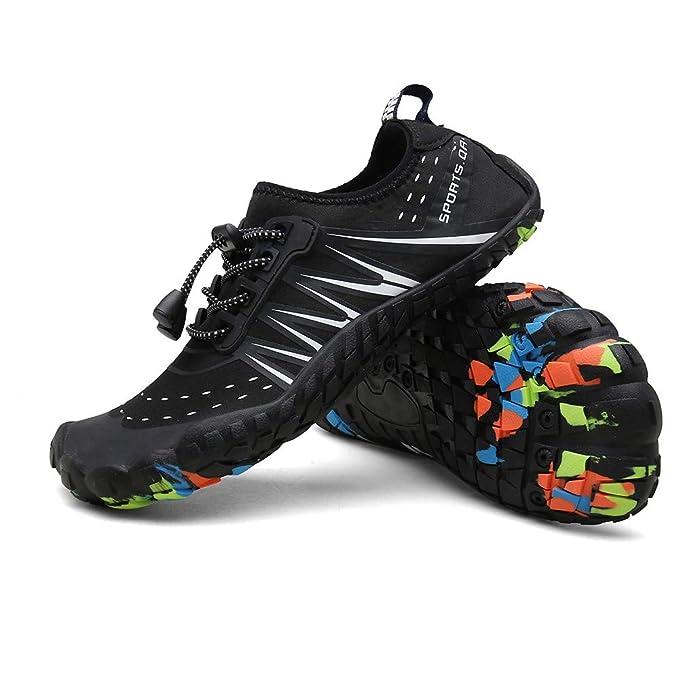 e4f51ca96d01 Amazon.com | KUNAW Men Women Water Shoes Quick Dry Wide Feet ...