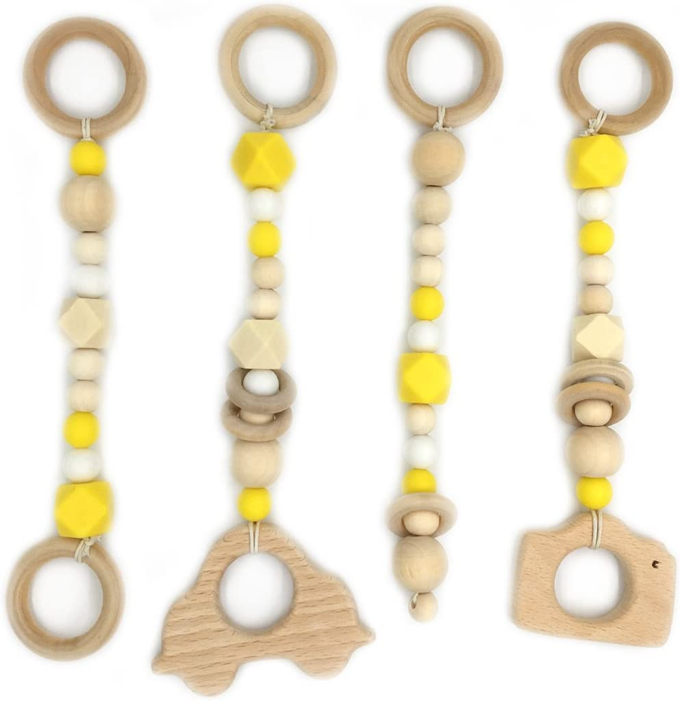 Coskiss DIY fertigt hölzerner Ring Zettel Baby Zettel