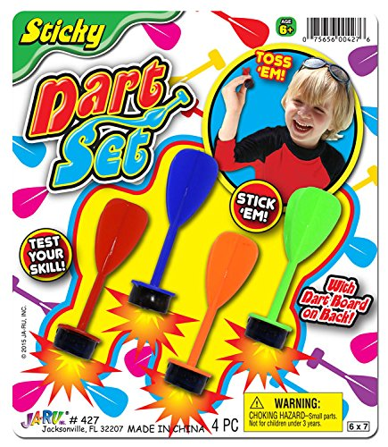 Ja-Ru Sticky Dart Set Party Favor Bundle Pack