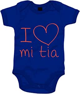 Body bebé I Love mi tía - Azul Royal, 6-12 meses