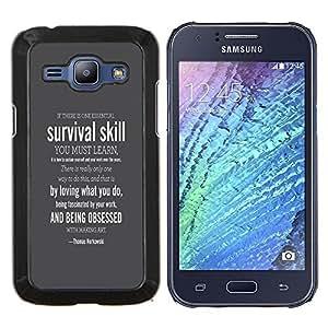 LECELL--Funda protectora / Cubierta / Piel For Samsung Galaxy J1 J100 -- SUPERVIVENCIA HABILIDAD --