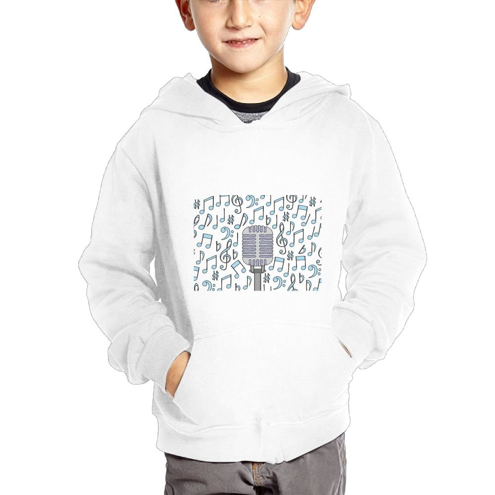 JIANGSHAN Musical Note Breathable Hooded Pocket Sweater for Children Spring//Autumn//Winter Outfit Long-Sleeved Hoodie