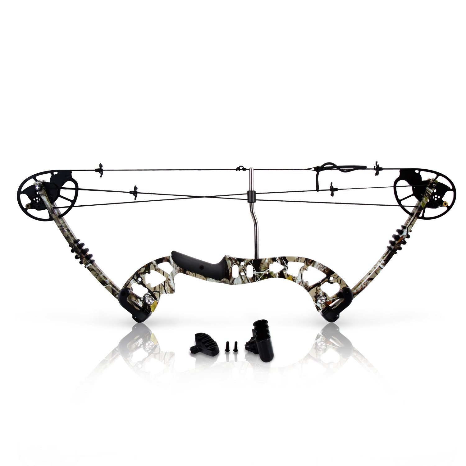 SereneLife Compound Bow, Adjustable Draw Weight 30-70 lbs with Max Speed 320 fps - Right Handed (SLCOMB10)