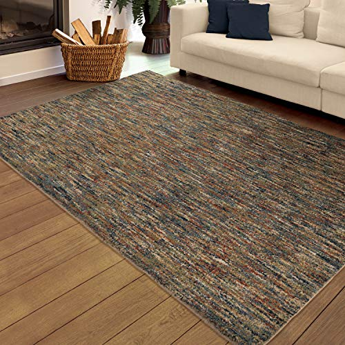 (Orian Rugs Next Generation Multi-Solid Layered Area Rug, 5'3