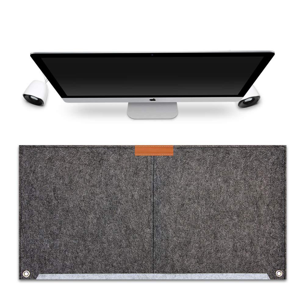 FireBee Desk Pad Protector Office Writing Mat Felt Laptop Mouse Keyboard Pad (Dark Gray)